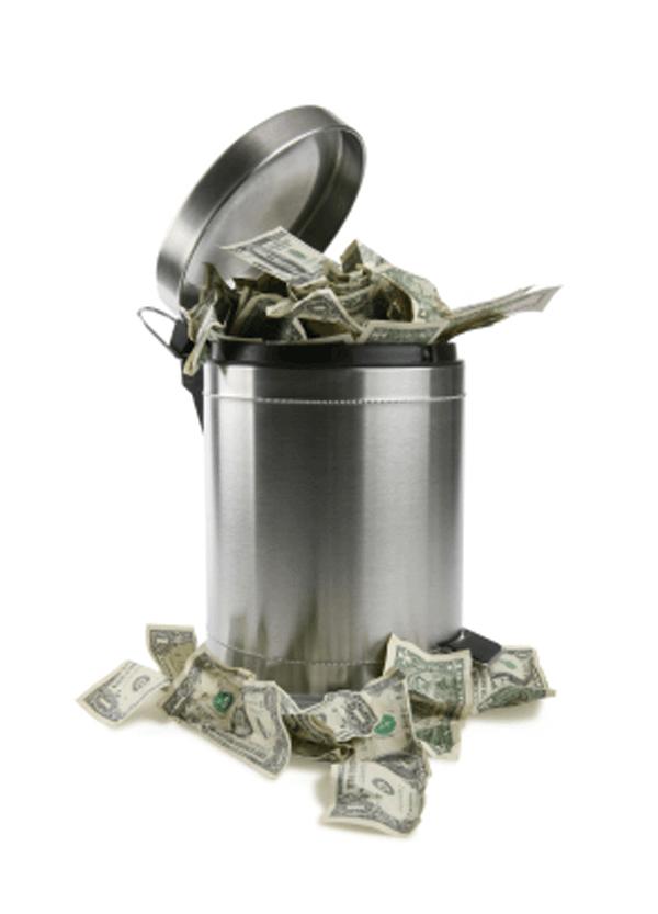 trashcan-money